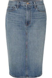 J Brand Denim midi skirt