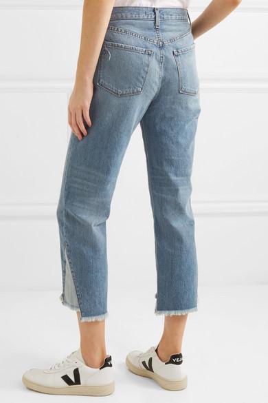 J Brand Wynne verkürzte, hoch sitzende Jeans mit geradem Bein