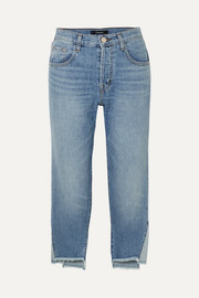 Wynne cropped high-rise straight-leg jeans