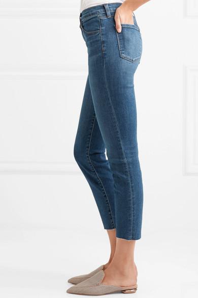 J Brand Ruby verkürzte, hoch sitzende Jeans mit schmalem Bein
