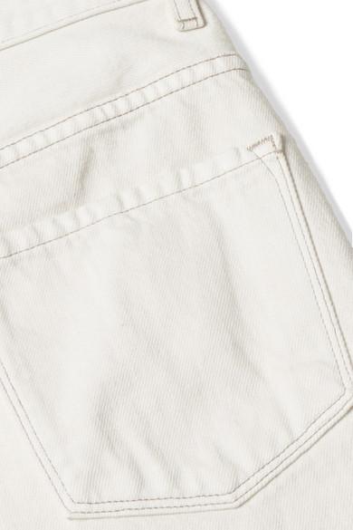 J Brand Joan verkürzte, hoch sitzende Jeans mit weitem Bein