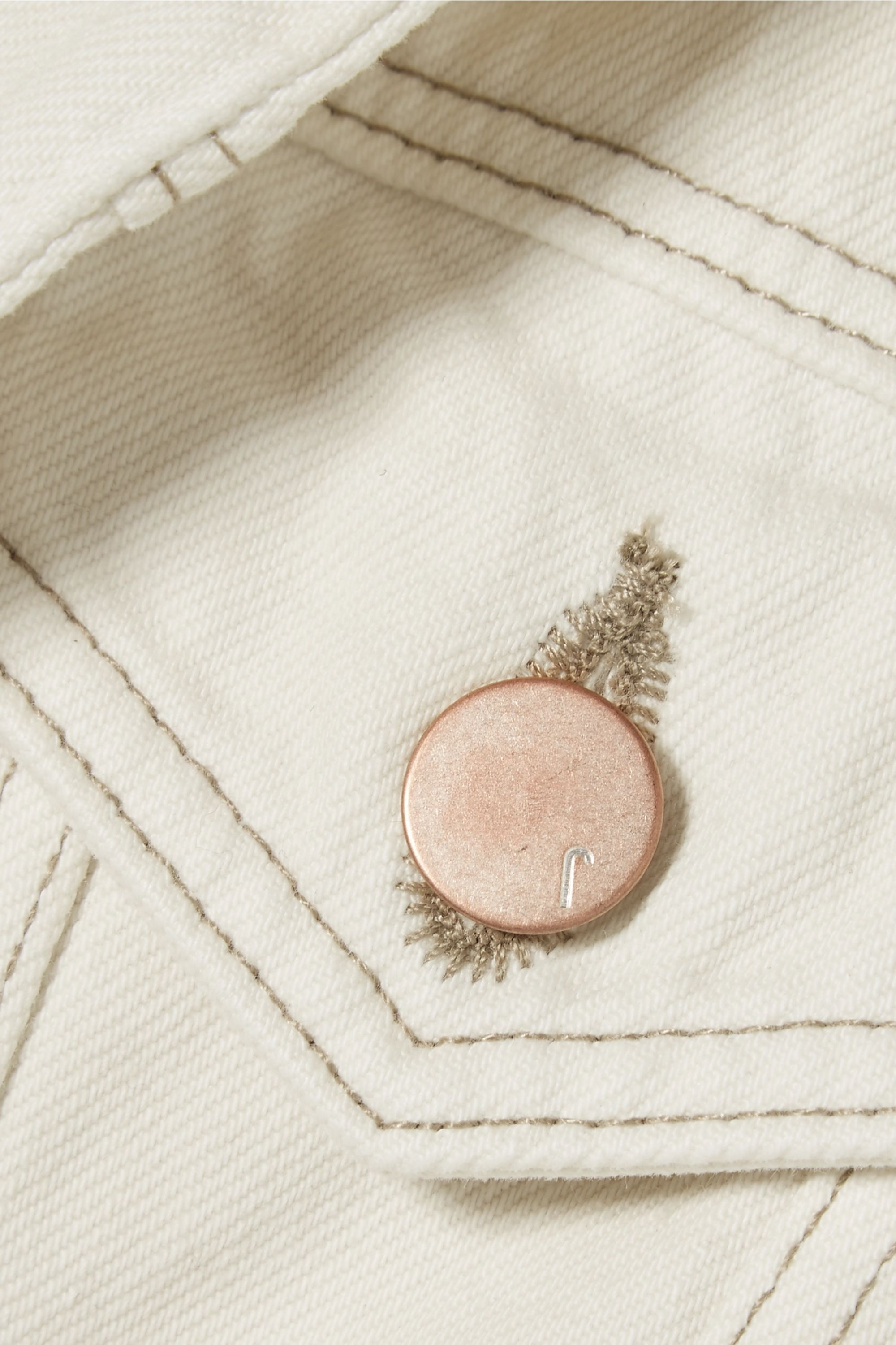 J Brand Slim frayed denim jacket