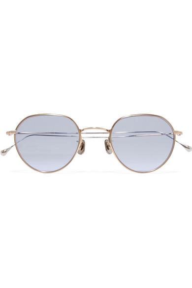 8bd84ac2aa7 Eyevan 7285. Round-frame gold-tone sunglasses