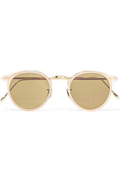 ed2ed564b2c Eyevan 7285. Round-frame acetate and gold-tone sunglasses