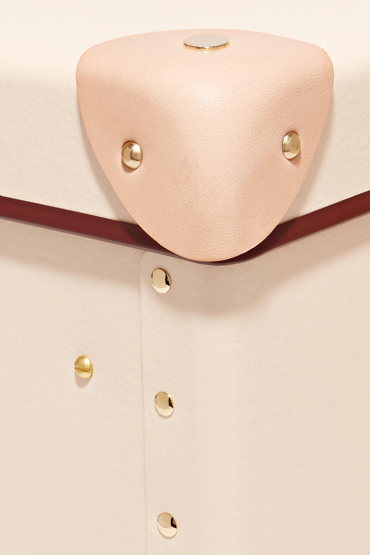 Globe-Trotter Safari 13'' leather-trimmed fiberboard vanity case