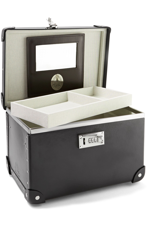 Globe-Trotter Centenary 13'' leather-trimmed fiberboard vanity case