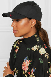 + Reebok embroidered cotton-twill and poplin baseball cap
