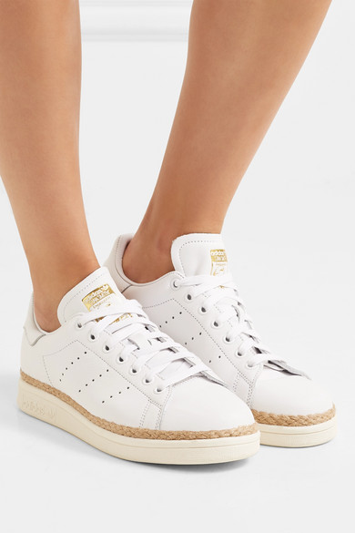 adidas Originals | Stan Smith Bold rope-trimmed leather ...