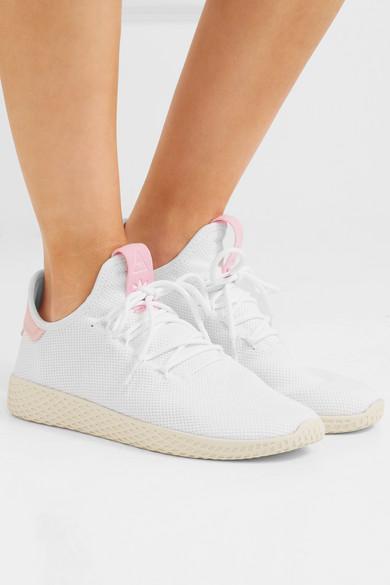 86ee6d522 adidas Originals. + Pharrell Williams Tennis Hu stretch-knit sneakers