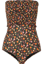 Ipanema shirred floral-print halterneck swimsuit