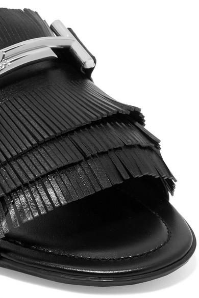 Tod's Gommino Pantoletten aus Leder mit Verzierungen und Fransen Gut Verkaufen r2AuW