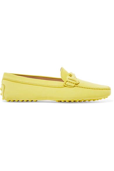Tod's Gommino verzierte Loafers aus Veloursleder