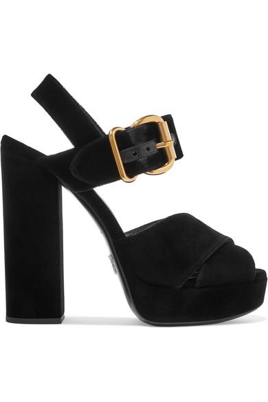 Prada Velvet Platform 65mm Sandal