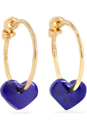 Gold-plated lapis lazuli earrings