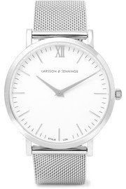 Lugano silver-plated watch
