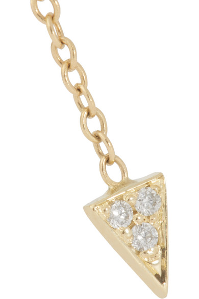 Arrow 14-karat Gold Diamond Earring - one size Jennie Kwon Designs Dg6IOO