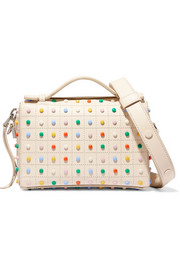 Bauletto micro studded leather shoulder bag