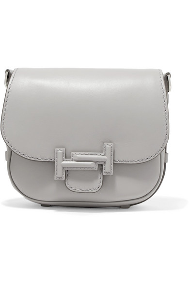 Tod Double T Leather Shoulder Bag
