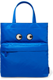 Anya Hindmarch Eyes leather-appliquéd shell tote