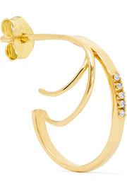 18-karat gold diamond earring