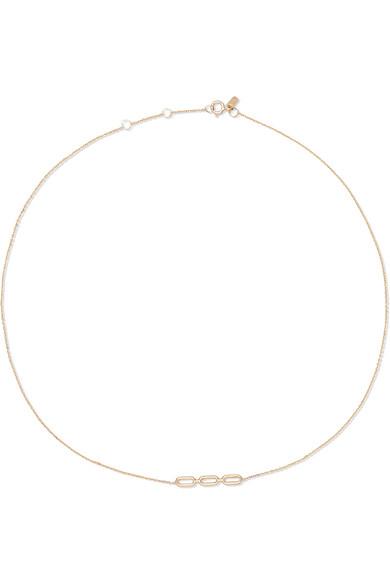 Lucid 9-karat Gold, Diamond And Pearl Choker - one size Sarah & Sebastian