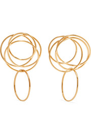 Stevie 14-karat gold-plated earrings