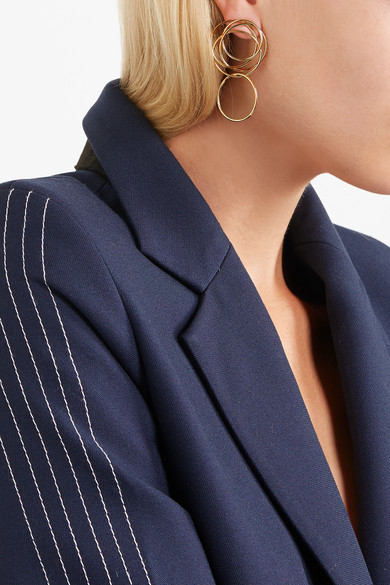 Natasha Schweitzer Loop Gold-plated Earrings UzHDbo1Da