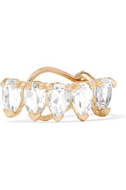 10-karat gold topaz ear cuff