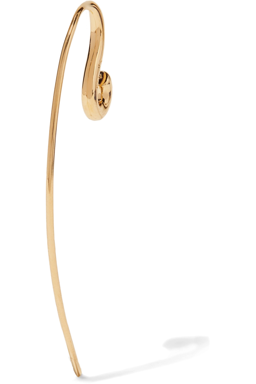 Charlotte Chesnais Hook small gold vermeil earring