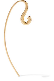 Hook small gold vermeil earring