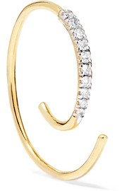 Loop 14-karat gold diamond earring