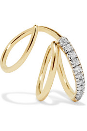 Fury Twirl Ohrring aus 14 Karat Gold mit Diamanten