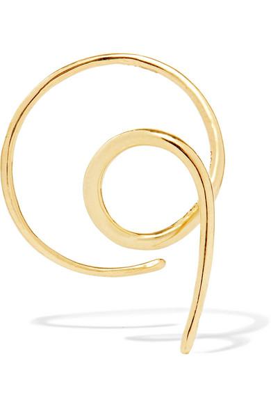 Maria Black Racer Nude 14-karat Gold Earring lACojY