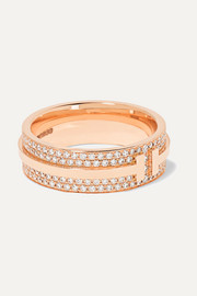 Tiffany & Co. 18-karat rose gold diamond ring