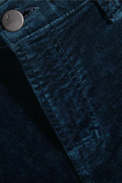 J Brand Maria eng geschnittene Hose aus Samt aus einer Baumwollmischung