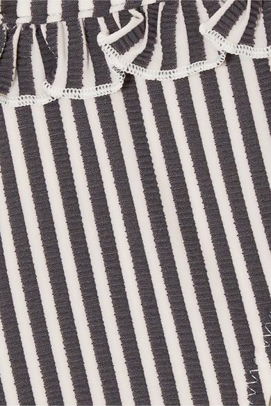 Solid & Striped The Milly Bikini-Höschen aus Seersucker