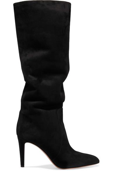 Gianvito Rossi 85 kniehohe Stiefel aus Veloursleder