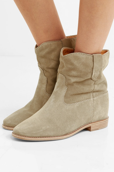buy cheap Inexpensive Isabel Marant Crisi Suede Ankle Boots outlet collections sOHOb