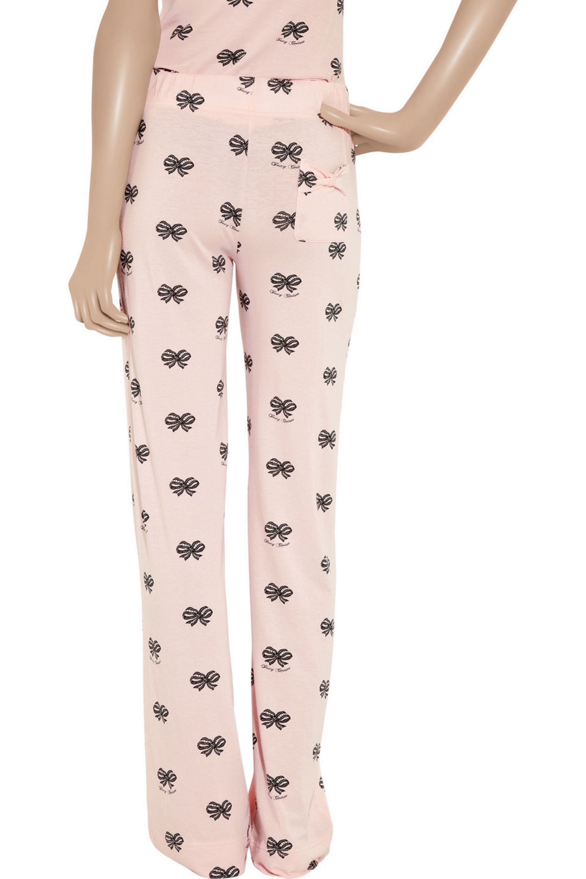 Juicy Couture Pretty Girl bow-print cotton-jersey pajama pants
