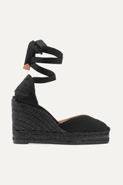 Chiara canvas wedge espadrilles