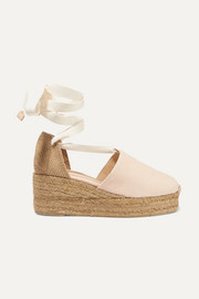 Campesina canvas wedge espadrilles