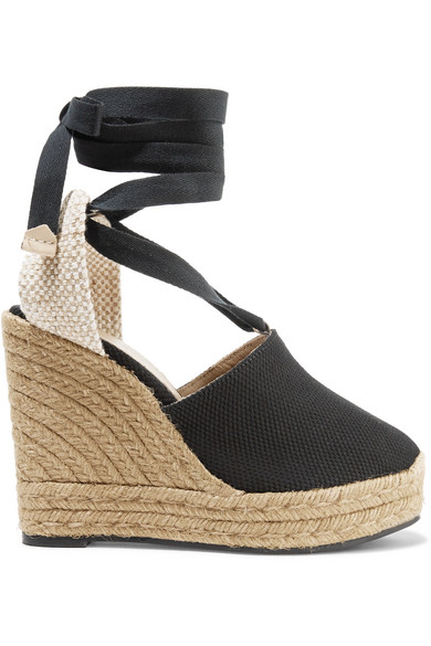 Nerea-castañer Espadrille Wedges Birds Canvas