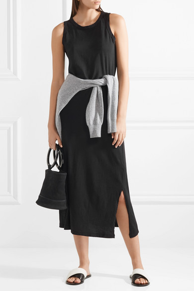 c4c03d28263006 Current Elliott. The Perfect Muscle Tee cotton-jersey midi dress