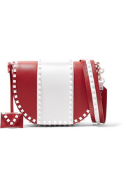 Valentino Rockstud two-tone leather shoulder bag