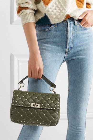e9f5294d5d Valentino Garavani The Rockstud Spike quilted leather shoulder bag