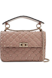 Valentino The Rockstud Spike small quilted leather shoulder bag