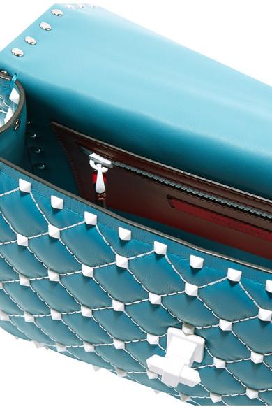 Valentino Rockstud Spike Schultertasche aus gestepptem Leder Billig Besten o5hqHC0bvl