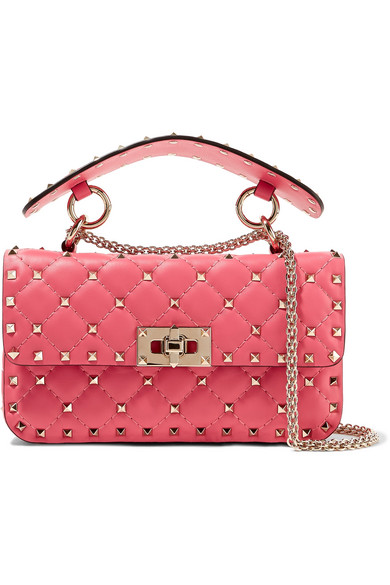 Valentino. Valentino Garavani The Rockstud Spike small quilted leather  shoulder bag e2b8746b13