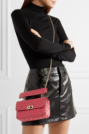 Rockstud Spike small quilted leather shoulder bag