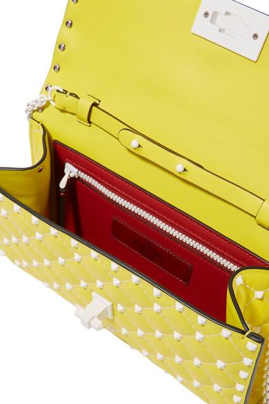 Valentino Rockstud Spike Schultertasche aus gestepptem Leder